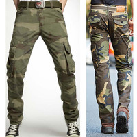 Winter Camouflage Pants Outdoors Cotton Casual Plus Size Bags [6541435267]