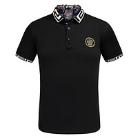 Versace POLO Fashion Casual Men Print Short Sleeve Tee Top T-shirt G-A00FS-GJ