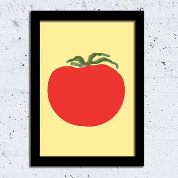 Tomato Print Tomato Poster Kitchen Art Scandinavian Abstract print Modern Art Kitchen Decor Wall Decor Wall art Choose Your Color Home decor