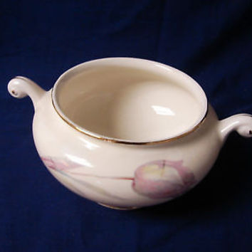 Homer Laughlin China dinnerware Eggshell Naut #N1594 Tulip Sugar bowl