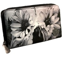 """Flower Skull"" Wallet by Sullen Clothing"