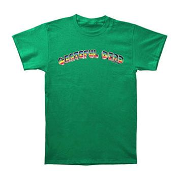 Grateful Dead Men's  Rainbow T-shirt Green