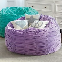 Pool Ruched Velvet Beanbag