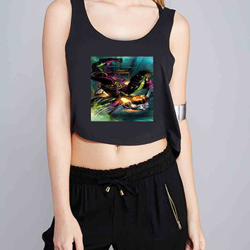 marvel green goblin 02 for Crop Tank Girls S, M, L, XL, XXL *07*