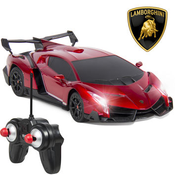 Best Choice Products 1/24 Officially Licensed RC Lamborghini Veneno Sport Racing Car W/ 27MHz Remote Controller - Walmart.com