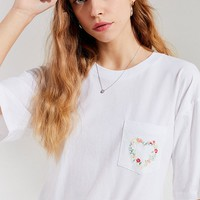 Future State Floral Embroidered Cropped Tee | Urban Outfitters