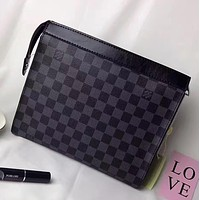 LV Woman Men Fashion File Bag Envelope Clutch Bag Satchel Tote Handbag