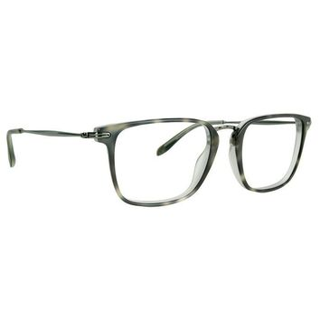 Badgley Mischka - Landau 51mm Olive Horn Eyeglasses / Demo Lenses