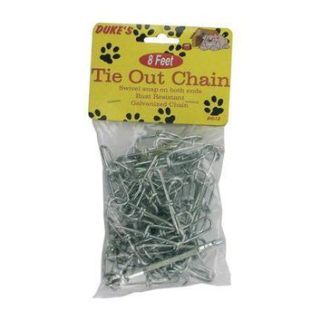 Strong Metal Swivel Snap Dog Tie-Out Chain Set of 24 Pack