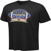 Army Black Knights vs. Navy Blue Midshipmen American's Game Black T-Shirt