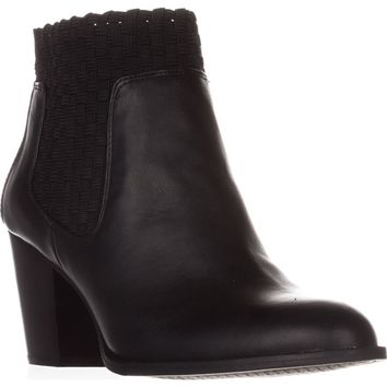Jessica Simpson Yeni Woven Ankle Boots, Black, 8.5 US