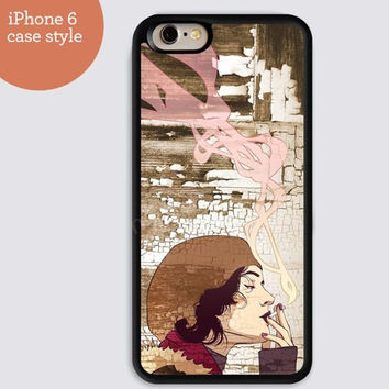 iphone 6 cover,Smoking Ancient painting iphone 6 plus,Feather IPhone 4,4s case,color IPhone 5s,vivid IPhone 5c,IPhone 5 case Waterproof 632