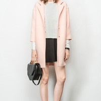 Rosy Pink Double Wool Coat OU0310