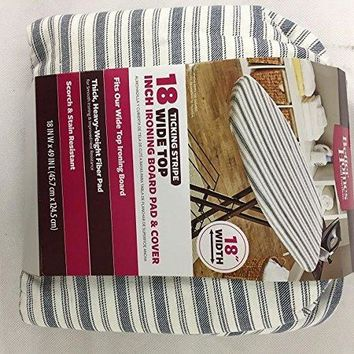 Better Homes and Gardens Wide Top Ironing Board Pad Cover, Ticking Stripe