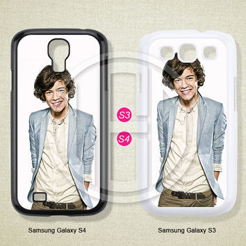 One direction, Harry Styles, Phone cases, Samsung Galaxy S3 Case, Samsung Galaxy S4 Case, Case for Samsung Galaxy, Cover Skin -S0801
