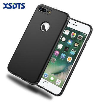 XSDTS For iPhone 7 Shockproof Phone Case For iPhone 6 6s Plus Original Brand 2 in 1 PC TPU Silicone Carbon Fiber Back Cover