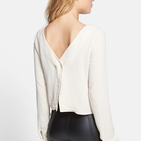 ASTR Button Back Blouse | Nordstrom