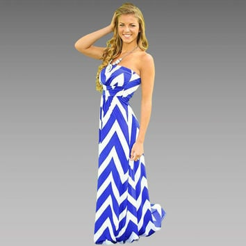 Chiffon Stripes Striped Wrap One Piece Dress = 5893356161