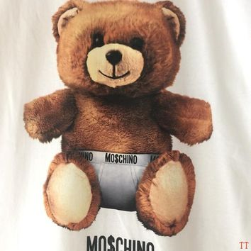 Moschino Short Round Collar Short Sleeve T-shirts #2965666