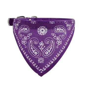 Pink/Purple Adjustable Pet Dog Puppy Cat Neck Scarf Bandana Collar Neckerchief for kitty puppy dress up