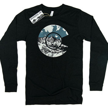 Colorado Long Sleeved Tee - Charcoal Black