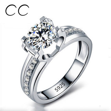 1.5 Carat AAA CZ Simulated Diamond Wedding Rings  White Gold Plated