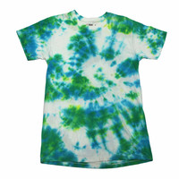 Vintage Green/Blue Tie Dye Shirt Mens Size Extra Small