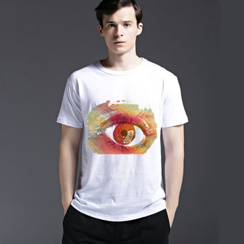 Summer Stylish Casual Strong Character Cotton Men's Fashion Short Sleeve T-shirts [6525532419]