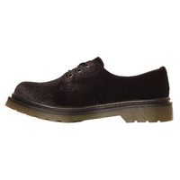 Ark for Women Ark Black Velvet Lace Up Shoe