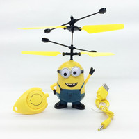 Despicable Me Mini RC Helicopter Flying Minion Shatter Resistant Remote Control drones Aircraft helicoptero Kids Electronic Toys