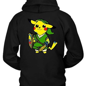 Pokemon Pikalink Hoodie Two Sided