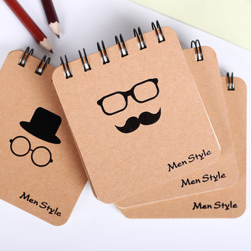1 pcs New Fashion Men Style Notebook Creative Notepad Business Diary Office Student Portable Note book Creative Recording