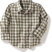 Old Navy Gingham Plaid Shirt
