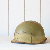 Vintage World War 2 Helmet // American Soldier by genrestoration