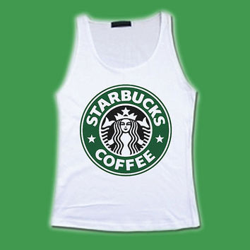 Starbucks Coffee Logo Sign Symbol Brand Worldwide Shirt Tank Tops Women Girl Size S M L