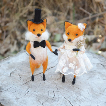 Wedding Fox - Felting Dreams by Johana Molina -