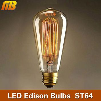 MB Retro Edison Bulbs E27 230V Incandescent Bulbs 25W 40W 60W ST64 Filament Bulb Vintage Edison Light For Pendant Lamp