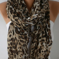 Leopard Cotton Scarf Graduation Gift Soft Shawl Spring Summer Cowl Oversized Wrap Gift Ideas For Her Women Fashion Accessories  Scarves