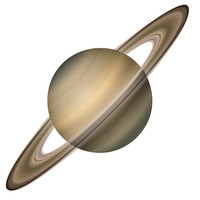 Saturn Circle wall decal
