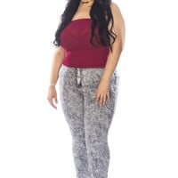 High Waist Plus Size Jeans