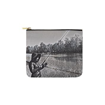 Levi Thang Fishing Design 17 Carry-All Pouch 6''x5''