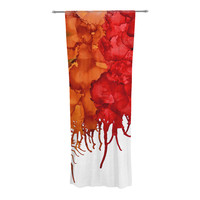 "Claire Day ""Fall Splatter"" Decorative Sheer Curtain"