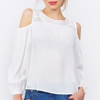 Delilah Cold Shoulder Top*