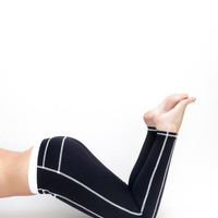 Yoga pants black white leggings black yoga clothes activewear