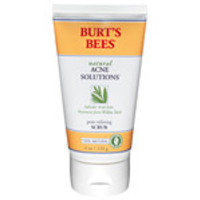 Burt's Bees Facial Care Pore Refining Scrub 4 oz. Natural Acne Solutions