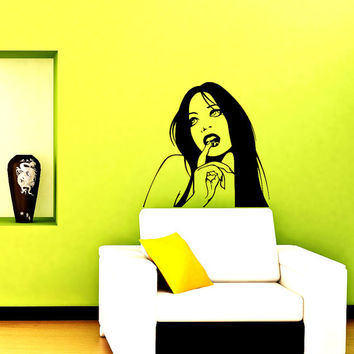 Wall Vinyl Decal Sticker  Girl Beauty Saloon Art DesignRoom Nice Picture Decor Hall Wall Chu1192