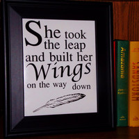 Take The Leap Inspirational Print. 8x10 Typography Print