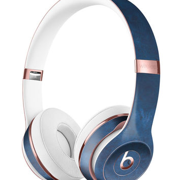 Mixtures of Blue Painted Surface Full-Body Skin Kit for the Beats by Dre Solo 3 Wireless Headphones