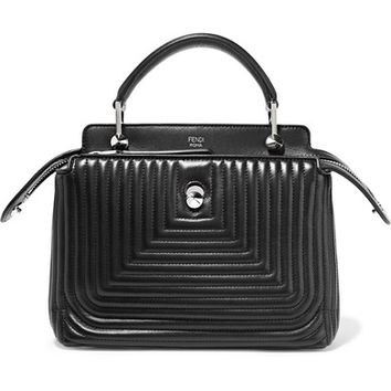 Fendi - DotCom Click quilted leather tote