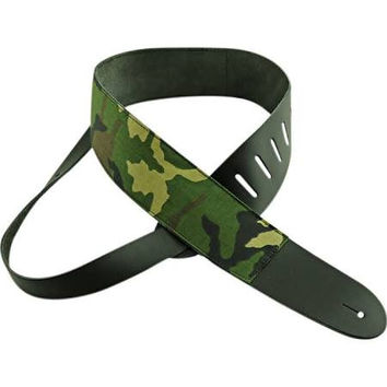 Perri's P25M-63 2.5'' Leather Camouflage Guitar Strap